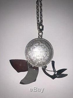 Eloi Pernet Rare Sterling Silver Door Key Lime Cigar Cup 1870 Old Room