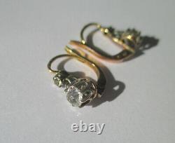 Embellish Dreader Earrings Old 18 Carat Silver Solid Gold