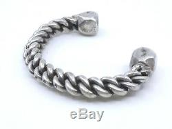 Ethnic Bracelet Heavy Old Silver Massive Berber 120g
