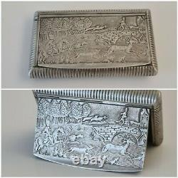 Former Box Argent Massif Hunting Scene Solid Silver Snuffbox