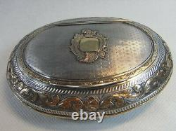 Former Box Box Chaplain Tabatière Silver Gold Massive Boar Box Silver