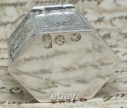 Former Box Silver Box Massive 18th Century 18th Century 10th Century Niellée Old Silverbox
