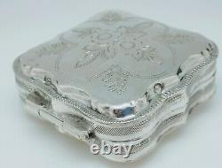 Former Box Silver Box Massive Dutch 19th Old Silverbox Initials