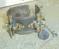 Former Bracelet In Sterling Silver. Berber. Morocco. 19th Early 20 Th Century