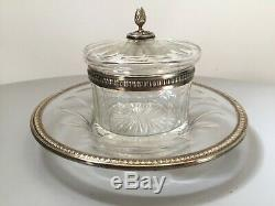 Former Confiturier In Sterling Silver And Goldsmith Crystal Lagriffoul & Laval