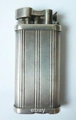 Former Dunhill England Gas Lighter In Solid Silver Silver Lighter 84g