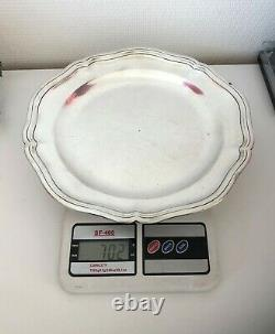 Former Flat Round Silver Massive Punching Rooster 702 Grs 18th XVIII Plateau Table