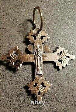 Former Grid Cross Of Chambéry Silver Massif Vermeil Bijou Regional Savoie