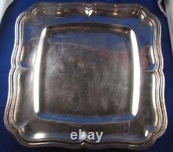 Former Large Flat Tray With Solid Silver Net Poincon Minerve 19th Style LXV