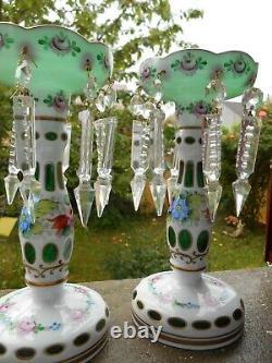 Former Pair Of Pineapple Door Present Art Popular Glass Overlay Crystal