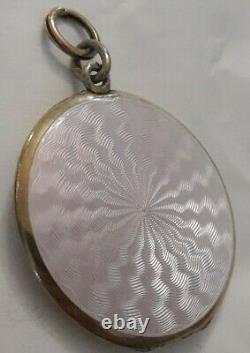 Former Photo Holder Massive Silver Emailed Guilloché Art Nouveau 1900