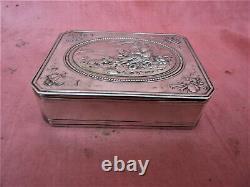 Former Silver Box Massive Minerve Pastoral Scene Silver Box Silberne Box
