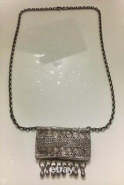 Former Silver Necklace Massif Jewelry Ethnic Orientalist Origin Berber Morocco