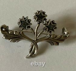 Former Solid Silver XIX Brooch, Pentacrine Star Of Digne / St Vincent