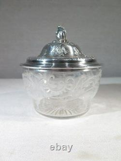 Former Sugar Style Louis XV In Silver Massive And Crystal Period 1900