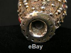 Former Zarf Saphrampolis Silver Gilt Tears Coral Ottoman Turkey Greece