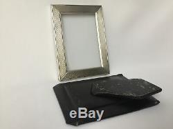 Frame Silver Hallmark Minerva Guilloche Hallmark Crown Old E300