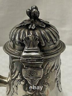Goldsmith L. Lapar Ancienne Chocolatier Argent Massif Louis XV Poinçon Minerve