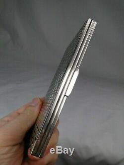 Import. Box Case Cigarettes Ancient Art Deco Solid Silver 214g Espr. Hermes