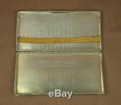 Important Box, Ancient Art Deco Cigarette Case In Solid Silver 218g