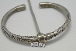 Important Silver Fibule Massif XIX Berber Kabyle Art Ethnic Old Jewelery