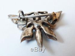 Insect Brooch Silver Butterfly Turquoise Jewelry + Old Silver Brooch