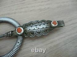 Large 19th 19th Solid Silver Fibula 117.6g 17cm Long