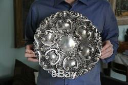 Large Dish Basket Old Sterling Silver Portuguese 833 Porto 807 Grs