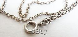 Large Necklace Chain Necklace In Sterling Silver Silver Chain Antique Jewel
