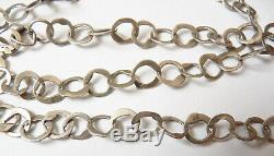 Large Necklace Chain Necklace Silver Solid Antique Jewel Tunisia Silver Chain