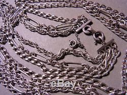 Long Necklace Antique Vintage 3 Ranks In Hallmark Crab Silver