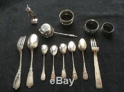 Lot Of Antique Cutlery In Sterling Silver