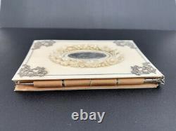Luxurious Ancient Notebook Noble Matter & Silver XIX Antique Notebook