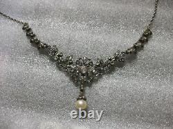 Magnifique Ancien Collier Serti De Diamants Taille Rose Epoque 19th