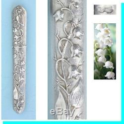 Muguet Old Needle Case Silver Needle Couture Antique Lily Valley Case