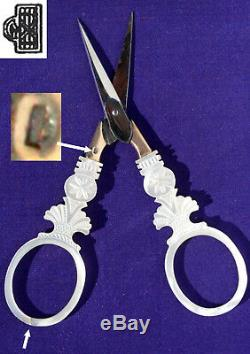 Nacre Palais Royal Old Sewing Kit Sewing Antique Sewing Scissors