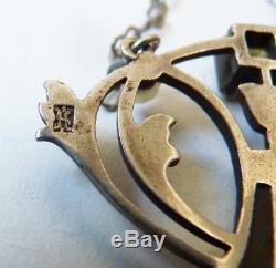 Necklace Silver Pendant Plique Day Signed Karl Hermann Antique Jewel Necklace