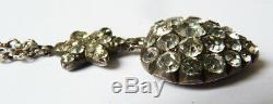 Necklace + Sterling Silver Pendant Heart Of Mary Jewel Old 19th Century Heart