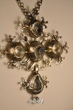 Norman Cross Ancient Silver Massive Jewel Regional Antique Solid Silver Cross 18