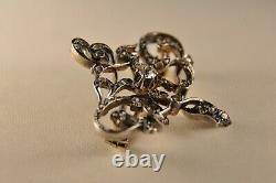 Old Art Nouveau Gold Silver Gold Brooch