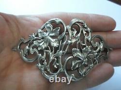 Old Belt Buckles In Solid Silver, Art Nouveau