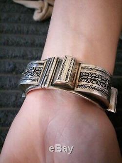 Old Berber Bracelet Silver Magreb Ethnic Vintage