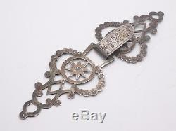 Old Big Model Of Cape Buckle In Solid Silver Regional Jewel Early Nineteenth