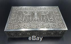 Old Box Sterling Silver Siam Thailand Indochina Asia Hanuman Chinese Expor