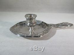Old Candle In Hand In Sterling Silver Chandelier Louis XVI Style Flowers