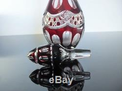 Old Carafe Crystal Color And Frame Sterling Silver Baccarat