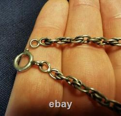 Old Chain Jumper In Solid Silver 145cm 48.3gr Xixth Necklace