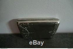 Old Cigarette Case In Silver And Vermeil Late Nineteenth