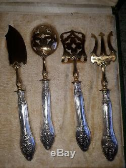 Old Cutlery Or Hors D'oeuvre In Silver And Vermeil