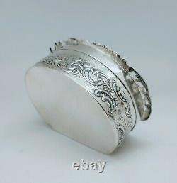 Old English Pillow Box Silver Massive Decorated Body House Silver